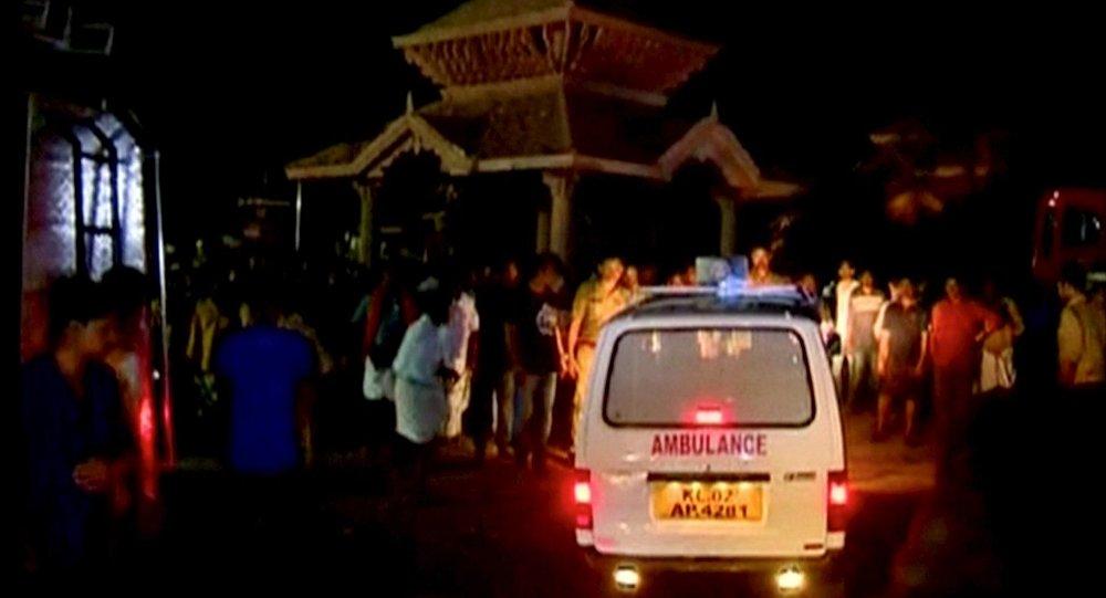 Pożar w jednej z hinduistycznych świątyń w mieście Kollam