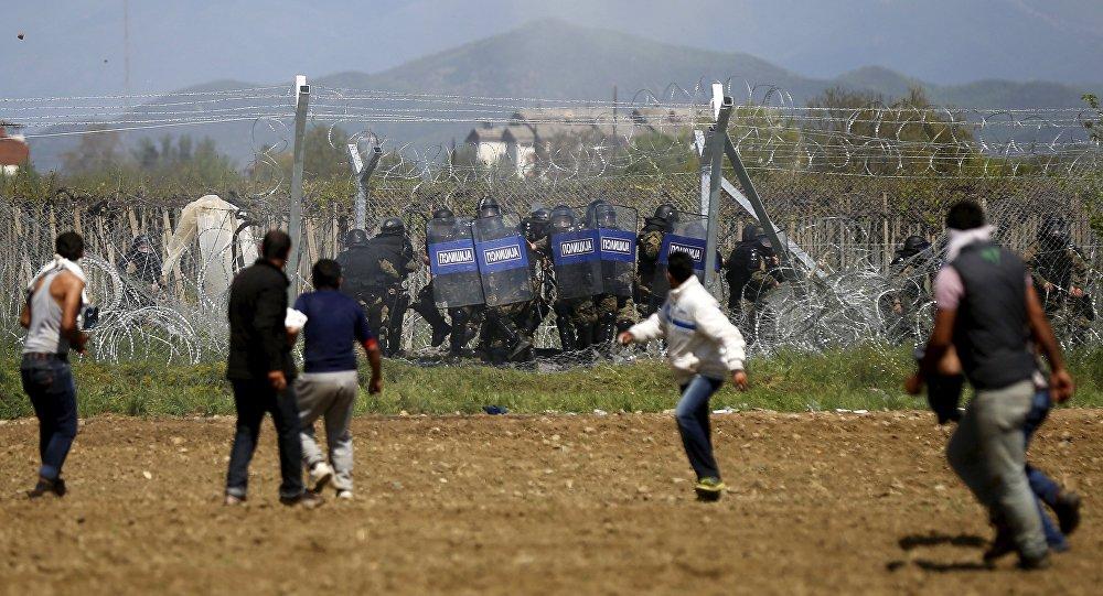 Starcia na grecko-macedońskiej granicy
