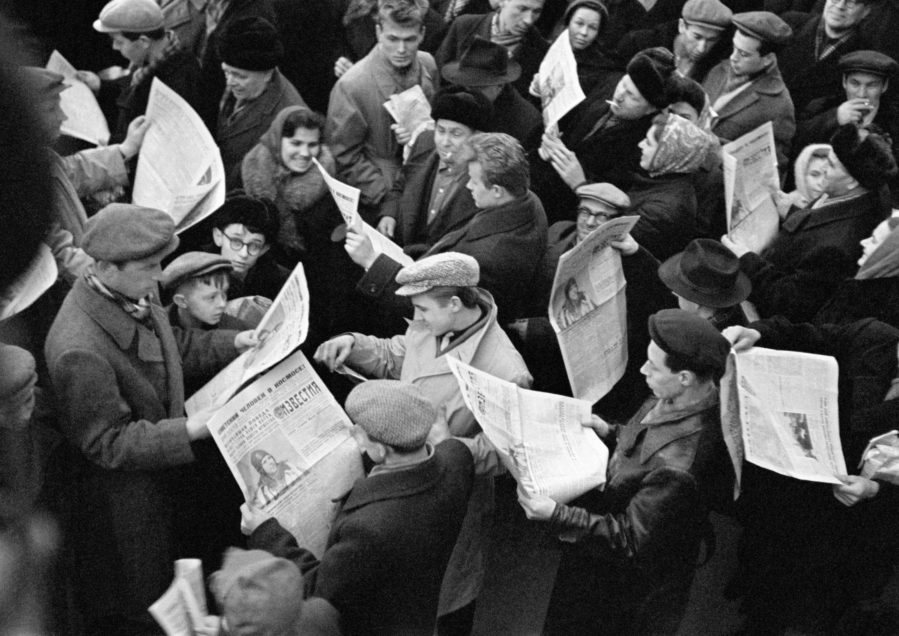 W dniu lotu Jurija Gagarina w kosmos wszystkie gazety w Moskwie zostały wyprzedane