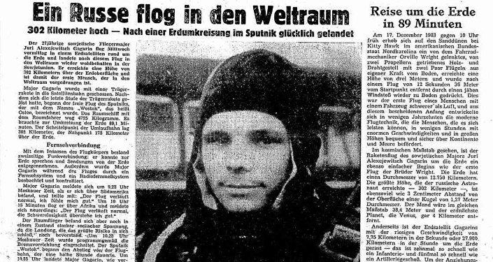 Arbeiter Zeitung z 13 kwietnia 1961: Rosjanin poleciał w kosmos