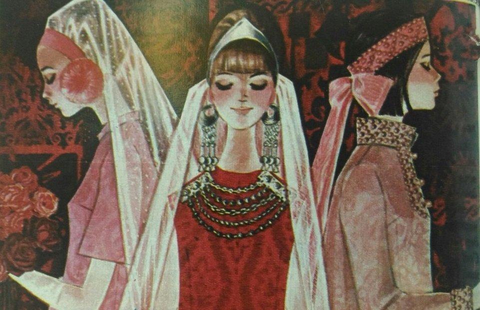 Artykuł Czerwone suknie ślubne, opublikowany we wrześniowym wydaniu czasopisma Sputnik z 1967 roku