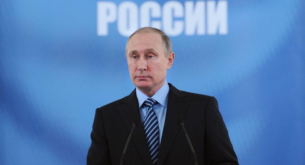 Prezydent Rosji Władimir Putin podczas przemówienia na zjeździe rosyjskich inżynierów
