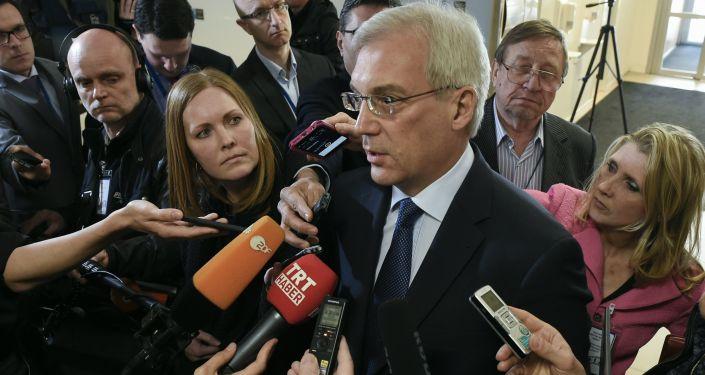 Stały przedstawiciel Rosji przy NATO Aleksander Gruszko