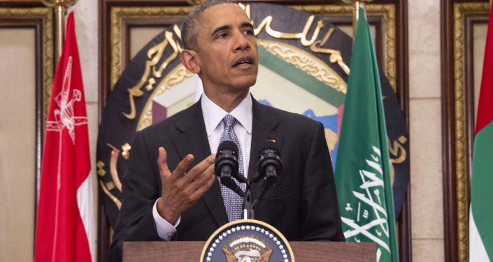 Prezydent USA Barack Obama po szczycie USA i Rady Współpracy Państw Arabskich Zatoki Perskiej w Rijadzie