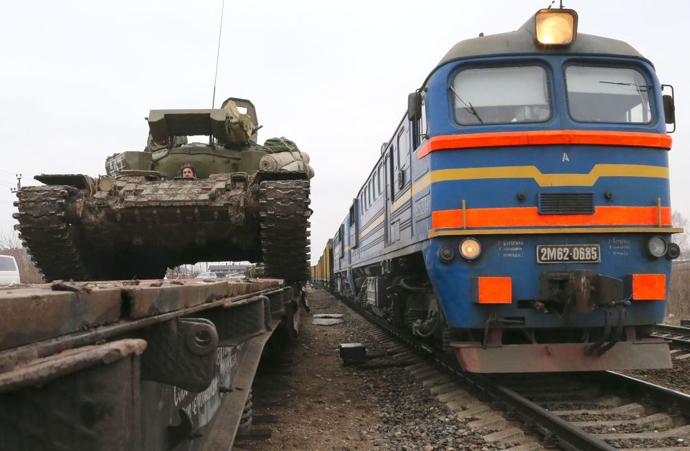 Przerzucenie czołgów T-72 do obwodu kaliningradzkiego