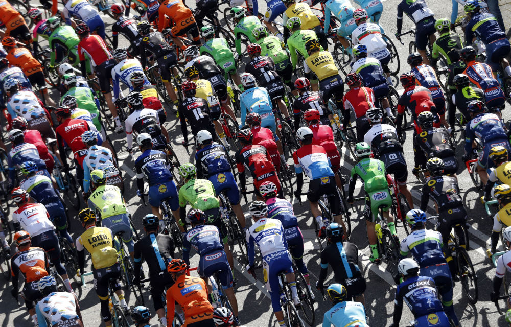 Uczestnicy Amstel Gold Race, Maastricht, Holandia