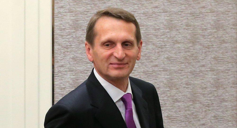 Przewodniczący Dumy Państwowej Rosji Siergiej Naryszkin