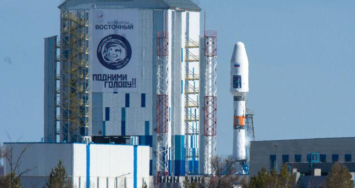 Rakieta nośna Sojuz 2.1a na kosmodromie Wostocznyj