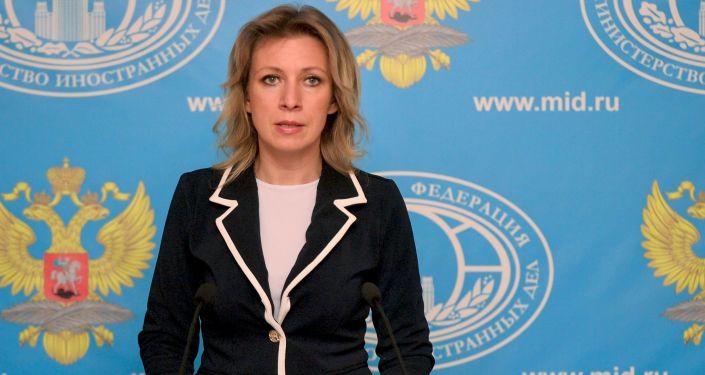 Rzeczniczka MSZ Rosji Maria Zacharowa na briefingu