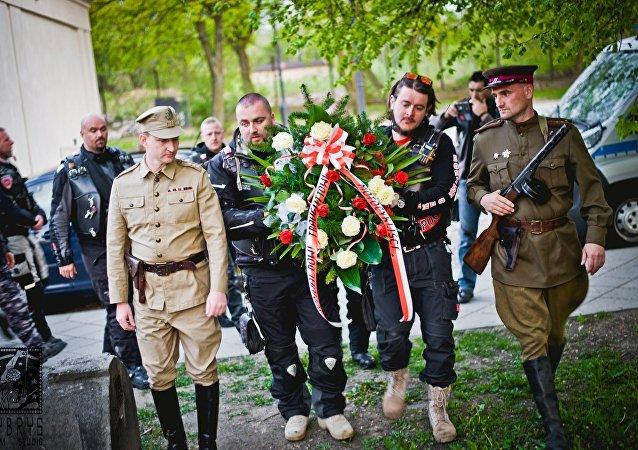 Nocne Wilki uczcili w Polsce pamięć radzieckich żołnierzy