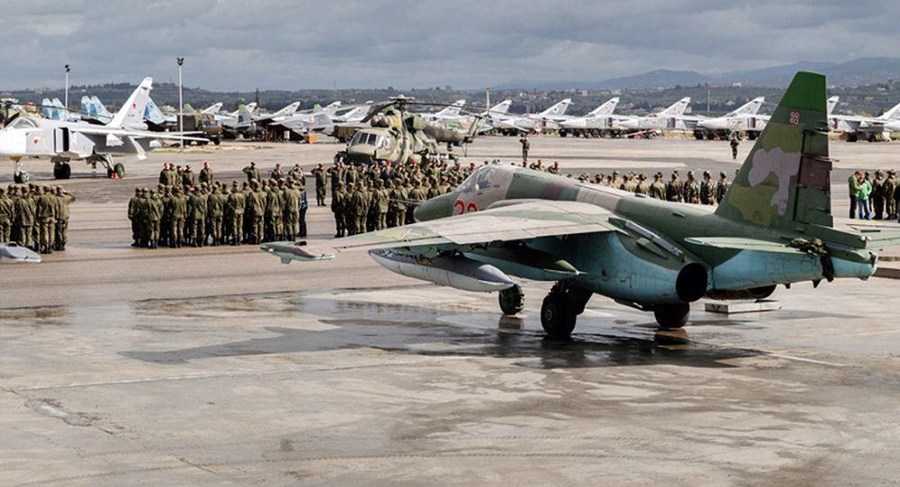 Вид на авиабазу Хмеймим в Сирии