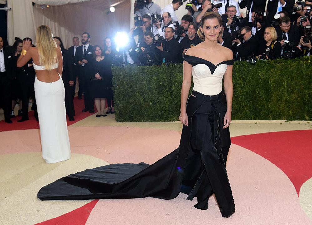 Emma Watson na Met Gala, Nowy Jork, 2 maja 2016