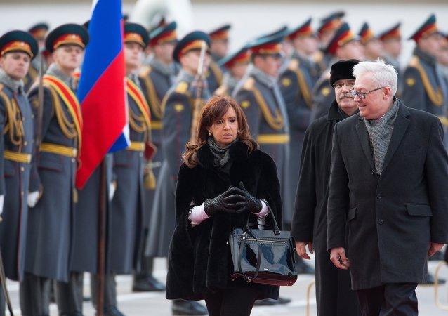 Prezydent Argentyny Cristina Fernandez de Kirchner przyjechała do Moskwy