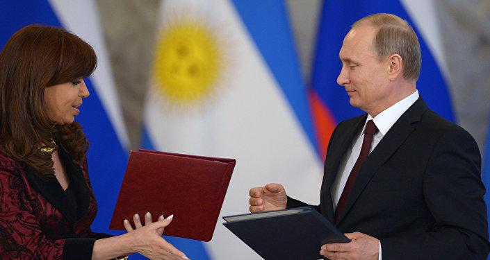 Spotkanie prezydenta Rosji Władimira Putina z prezydent Argentyny Cristiną Fernández de Kirchner