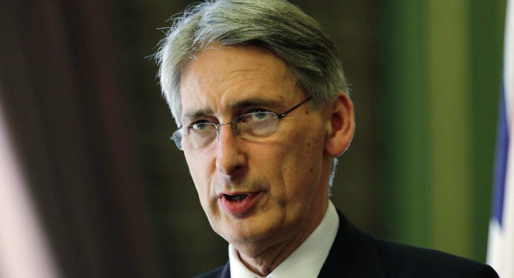 Szef brytyjskiej dyplomacji Philip Hammond
