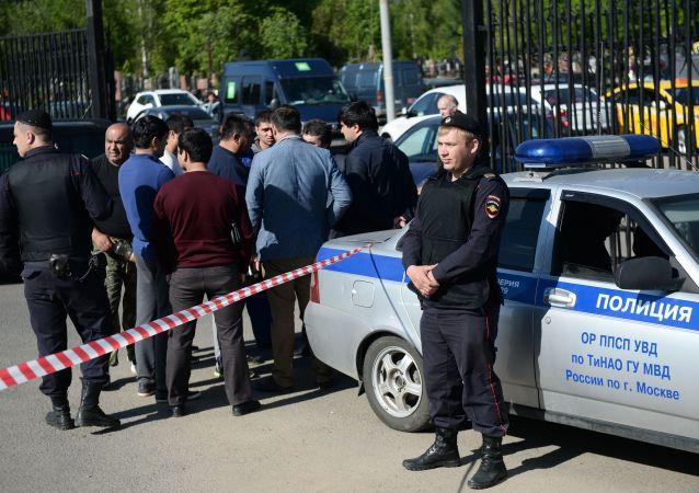 Bójka na Cmentarzu Chowańskim w Moskwie