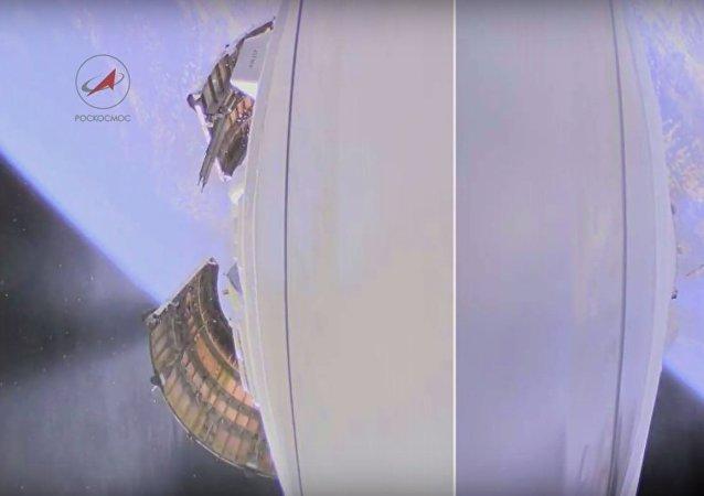 """Wideo z wystrzelenia rakiety nośnej """"Sojuz —2.1а z kosmodromu """"Wostocznyj"""" 28 kwietnia 2016 roku"""