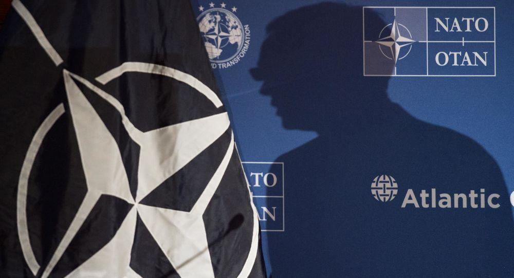 Sekretarz Generalny NATO Jens Stoltenberg w czasie wystąpienia w Waszyngtonie