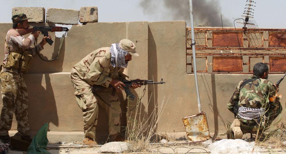 Walki z formacjami Daesh w rejonie Al-Falludży. Irak.