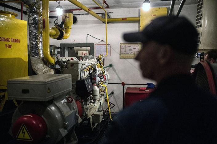 Generator prądu z samoczynnym zapłonem w bunkrze na Altufijewskiej Szosie w Moskwie.