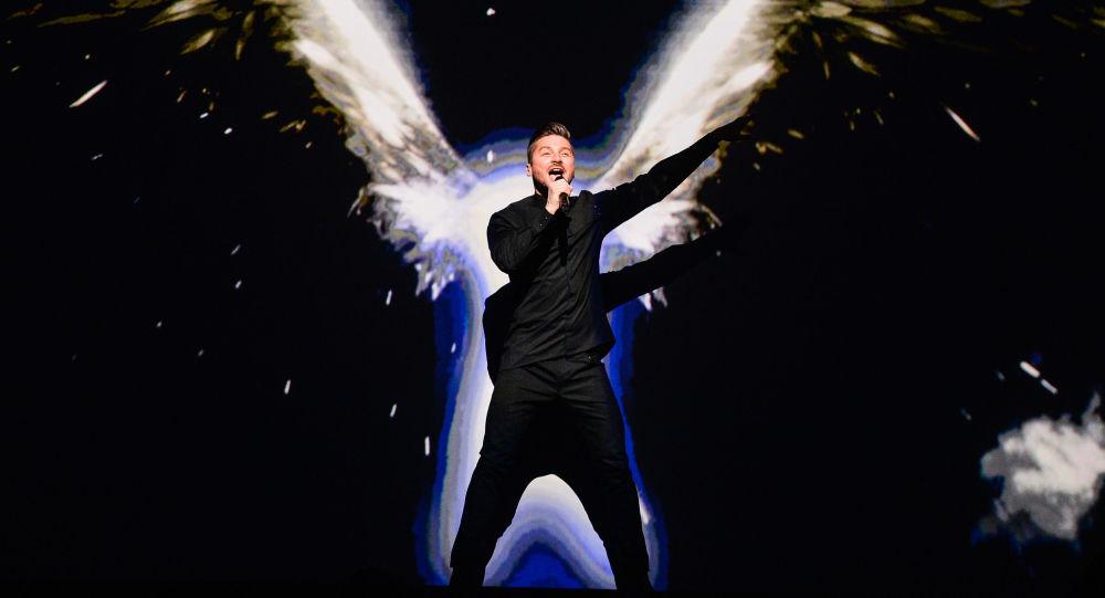 Siergiej Łazariew podczas Eurowizji 2016 w Sztokholmie
