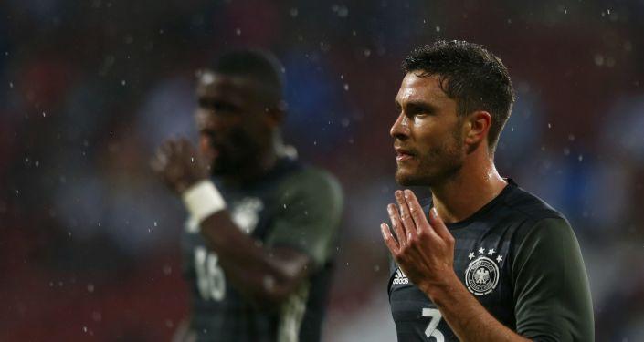 Pilkarze reprezentacji Niemiec podczas meczu ze Słowacją