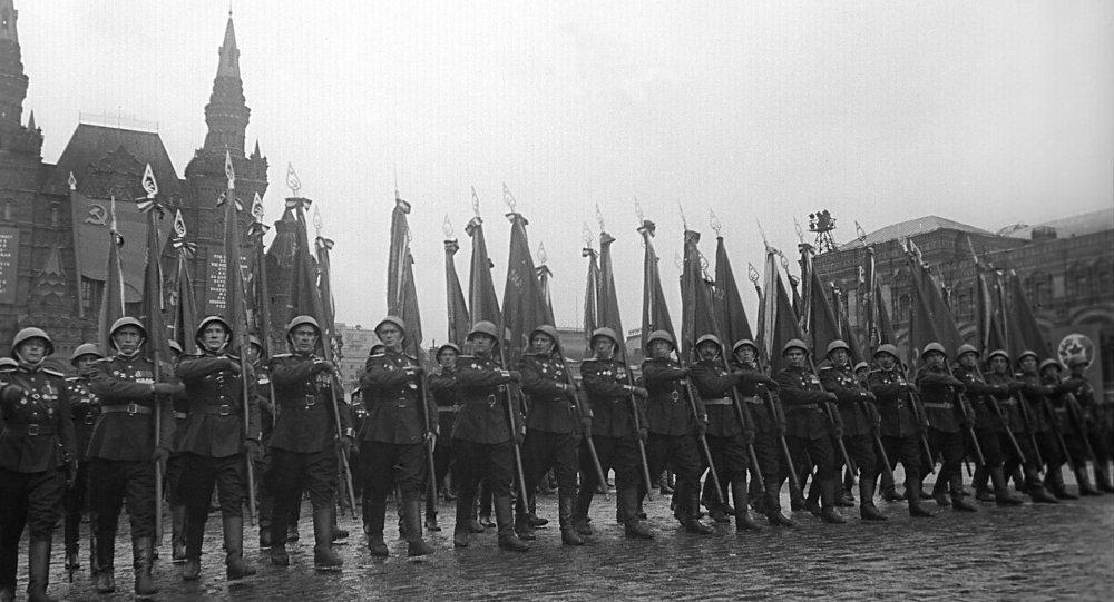 Dzień Zwycięstwa, Plac Czerwony, Moskwa, czerwiec 1945 roku