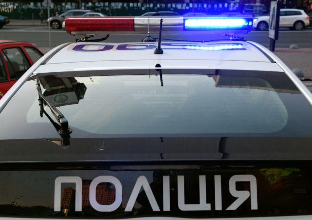 Radiowóz policyjny w Kijowie