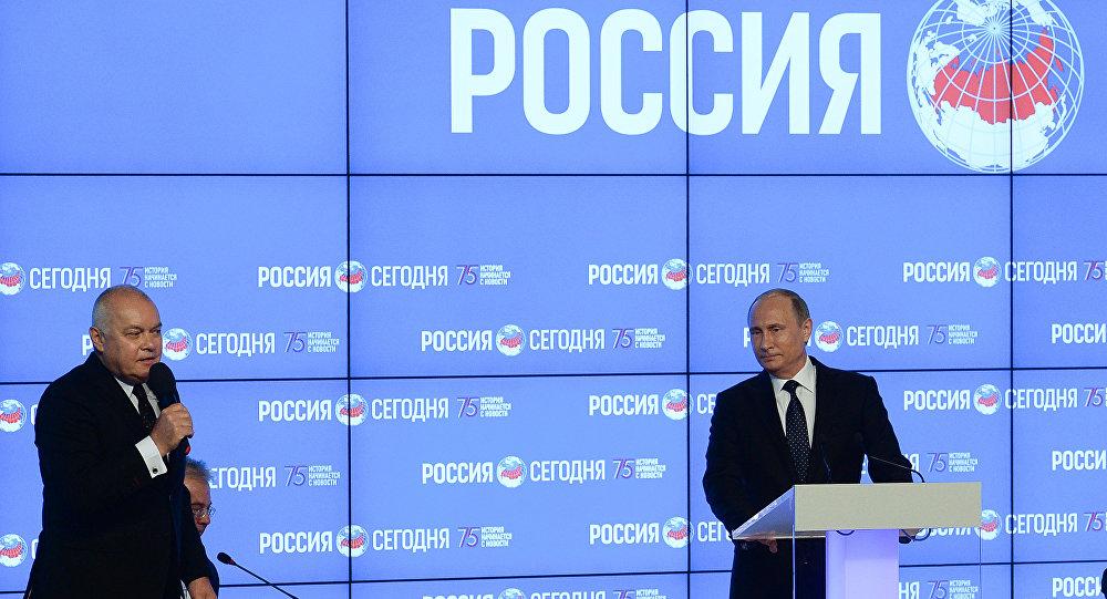 Władinir Putin odwiedził Agencję informacyjną MIA Rossiya segodnya
