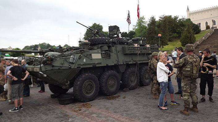Amerykańskie czołgi w Lublinie.