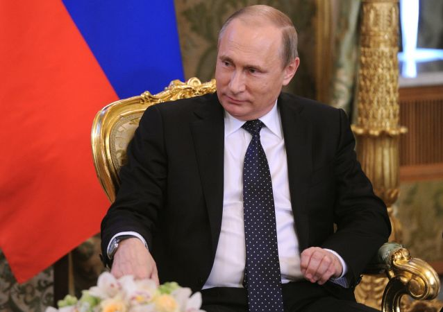 Prezydent Rosji Władimir Putin podczas spotkania na Kremlu z premierem Izraela Binjamina Netanjahu