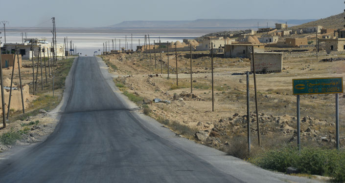 Droga z Aleppo do Homs w Syrii