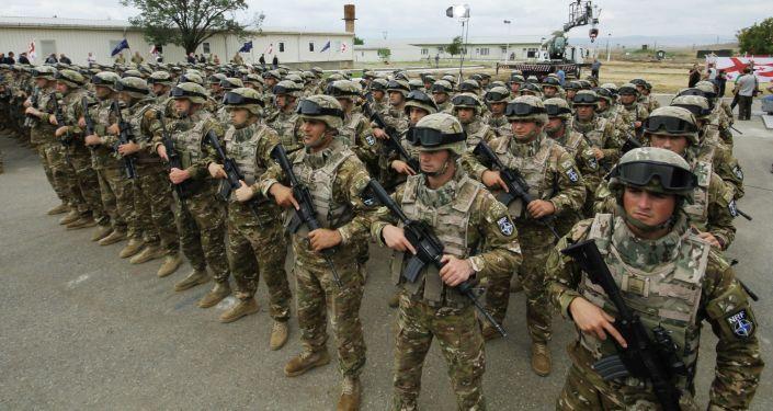 Gruzińscy żołnierze