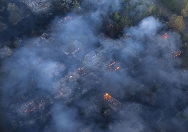 Pożar lasów na Ukrainie