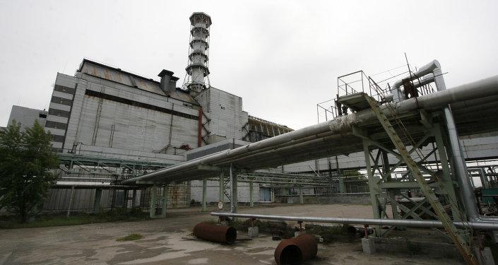 Czwarty reaktor elektrowni atomowej w Czarnobylu, który znajduje się pod sarkofagiem