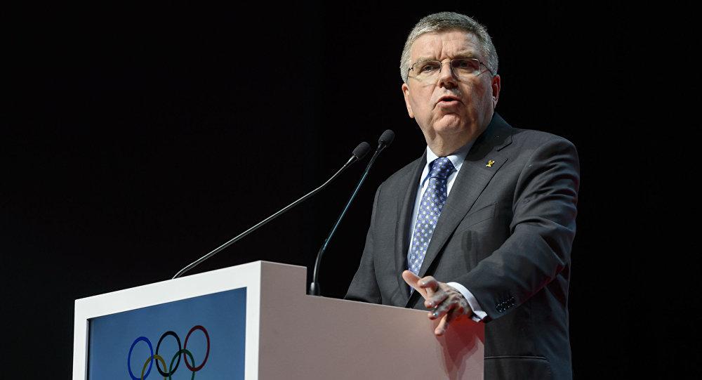 Przewodniczący MKOl Thomas Bach