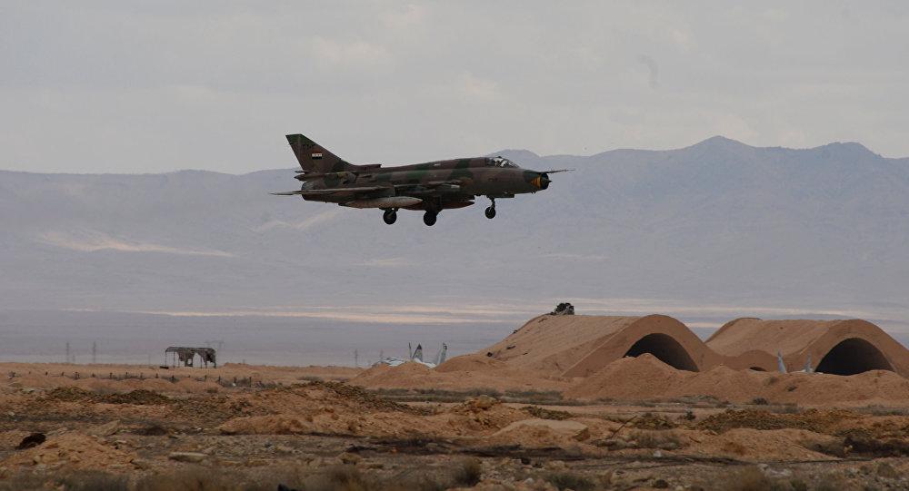 Myśliwiec MiG-21 syryjskich sił powietrznych