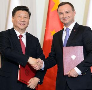 Xi Jinping i Andrzej Duda