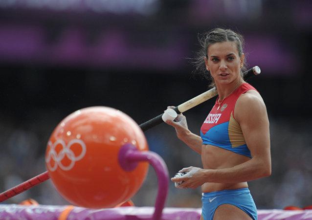 Jelena Isinbajewa. Igrzyska Olimpijskie 2012.