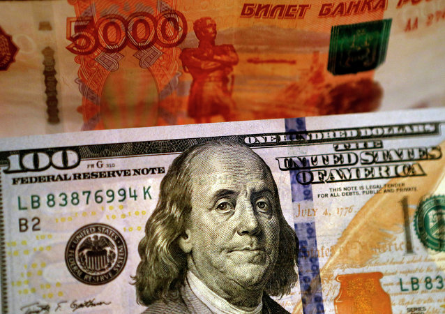 Banknoty USA i Rosji