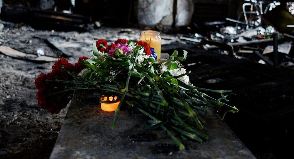 Rocznica pożaru w Domie Związków Zawodowych w Odessie