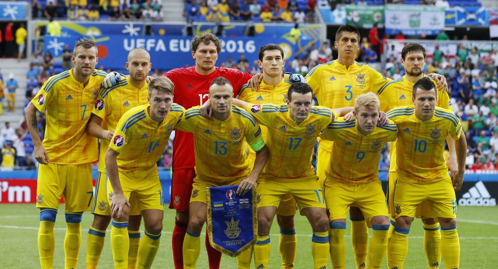 Reprezentacja Ukrainy przed meczem Ukraina-Północna Irlandia na Euro-2016