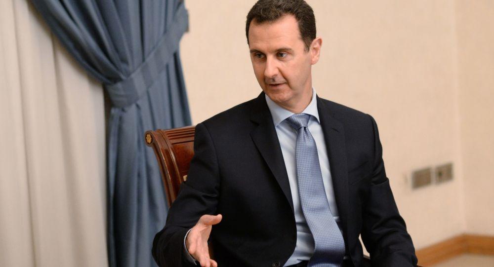 Prezydent Syrii Baszar al-Asad w Damaszku