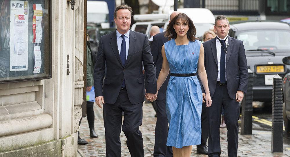 Premier Wielkiej Brytanii David Cameron i jego żona Samantha