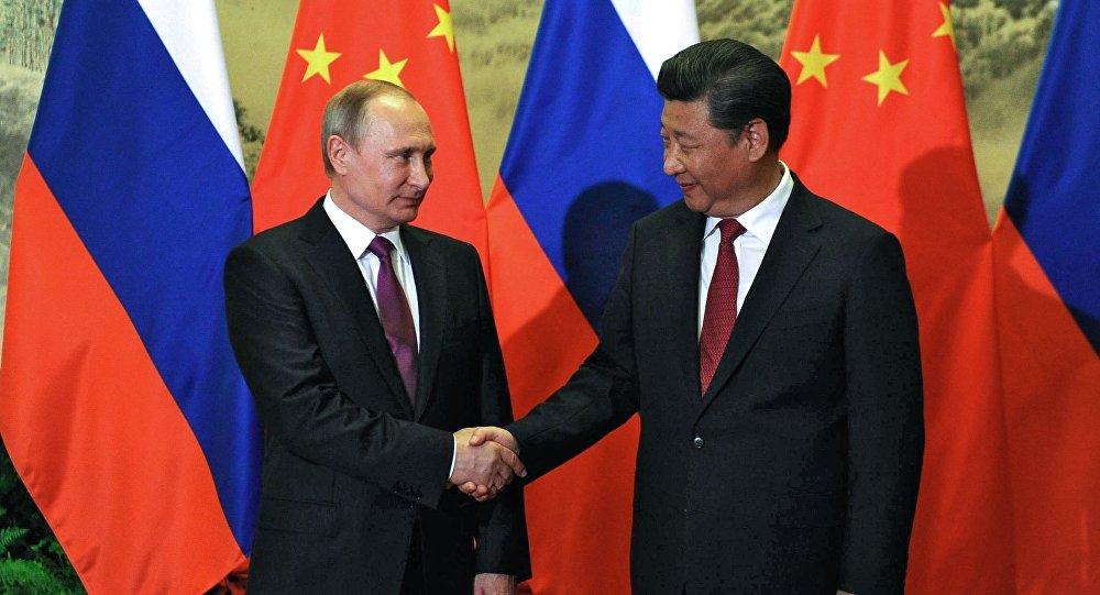 Prezydent Rosji Władimir Putin i przewodniczący Chin Xi Jinping