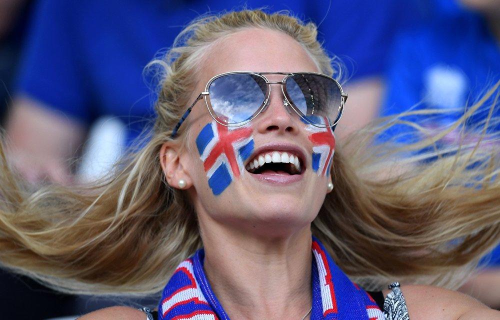 Kibicka reprezentacji Islandii na Euro 2016