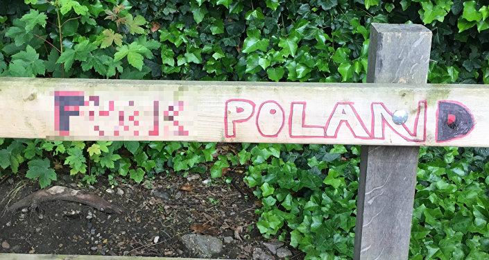 Antypolskie napisy w Londynie.