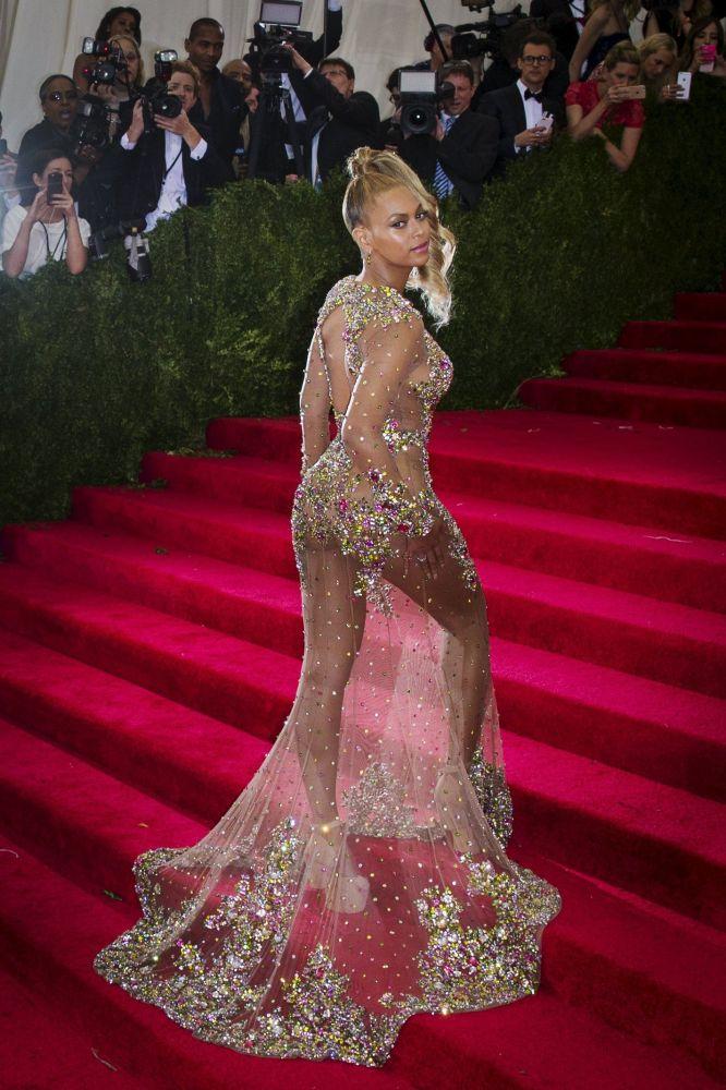 Znana amerykańska śpiewaczka Beyoncé na Met Gali-2015
