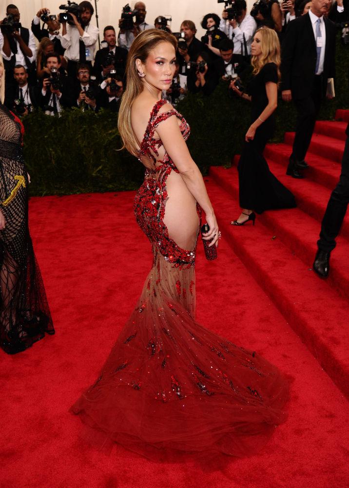 Jennifer Lopez na Met Gala, Nowy Jork, 4 maja 2015