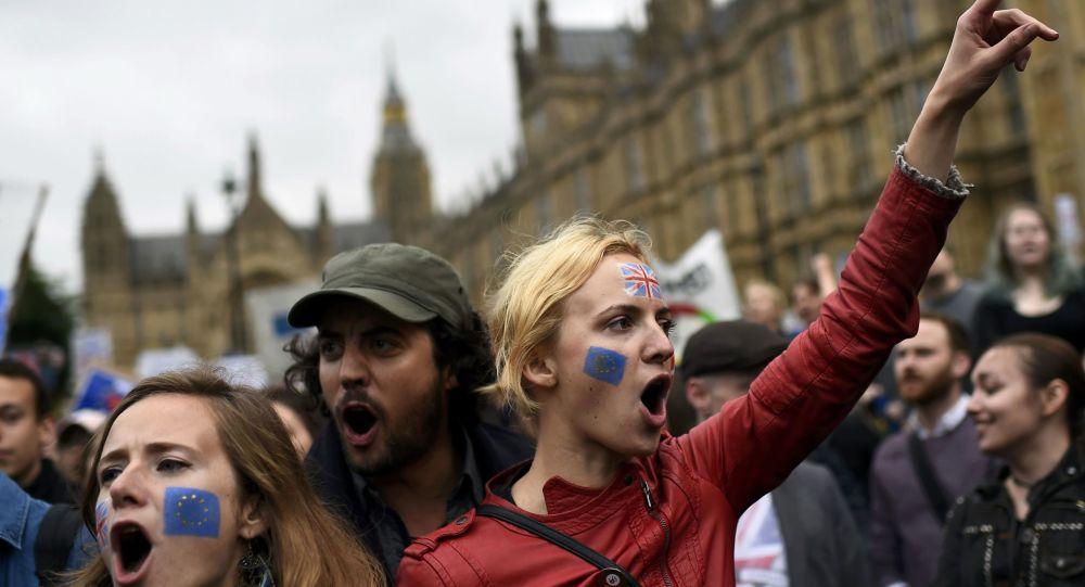 Protesty przeciwko Brexitowi w Londynie